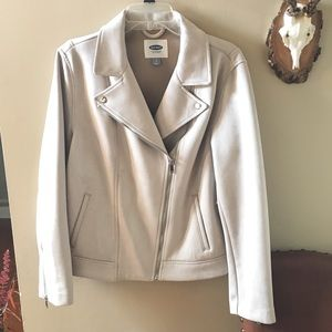 Old Navy Griege Suede Moto Jacket NWT